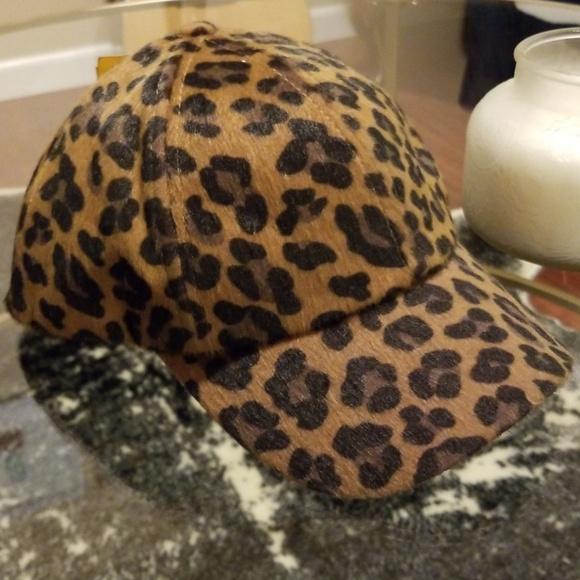 Cheetah print baseball cap 06fcc4ebdb4